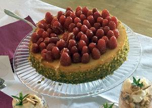 Pistazien-Himbeeren Cheesecake